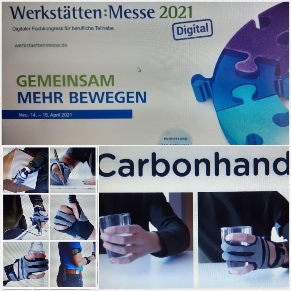 Exxomove mit der Carbonhand auf der Werkstätte:Messe 2021
